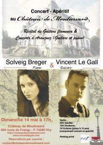 Concert Vincent Le Gall et Solveig Breger au Château de Moulinsard